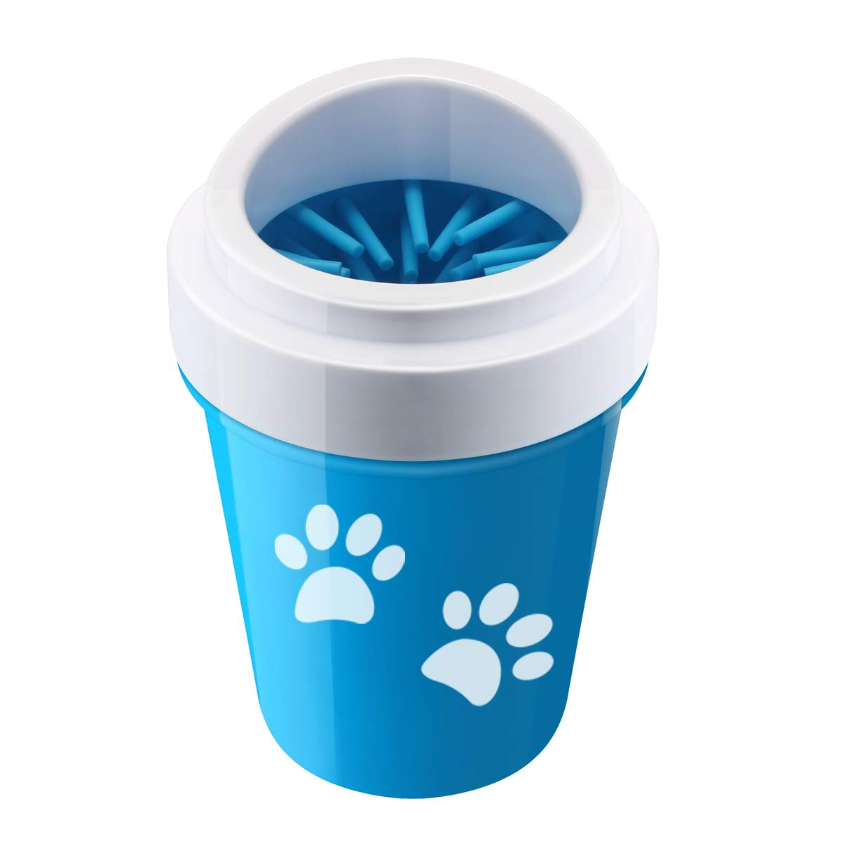 Lmlly Portable Dog Paw Cleaner, Outdoor Pet Feet Washer with Silicone Soft Bristles, Perfect 100% BPA Free Dog Accessories