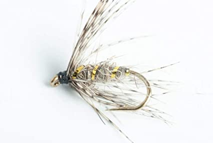 6 x Olive Soft Hackle Fly Fishing Wet Flies For Trout and Salmon