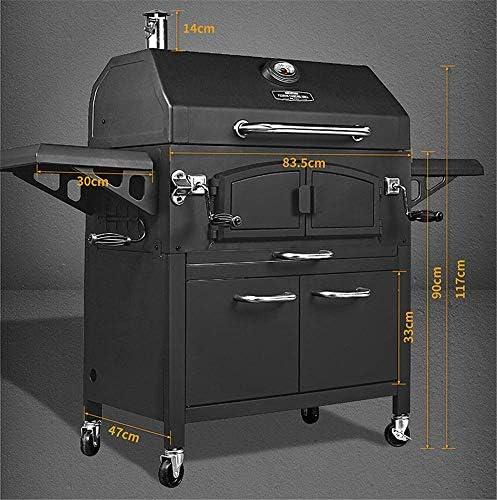 YUHT Barbacoa de Carbón,Barbacoa De Carbón Grande - Cochecito De Parrilla BBQ para Preparación De Cocina Y Entretenimiento Al Aire Libre - con Rejilla Calefactora, L155 X L68.5 X H131 Cm: Amazon.es: