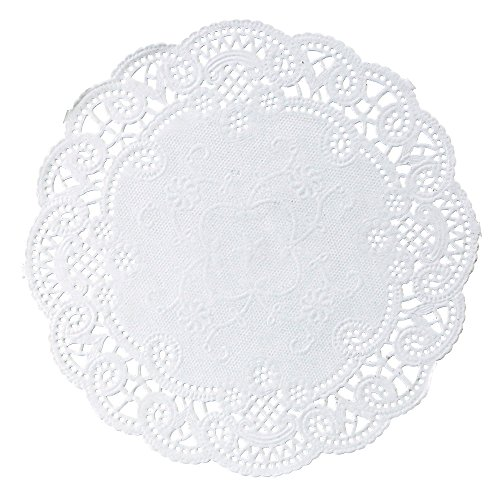 Hoffmaster 500532 French Lace Doily, 6'' Diameter (Case of 1000) by Hoffmaster