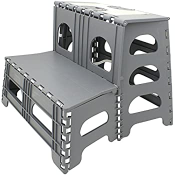 Amazon Com Range Kleen Double Step Gray Folding Stool 19