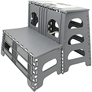 Range Kleen SS2 Double Step Gray Folding Stool 19.5 Inches L by 20 Inches W by 17 Inches H  sc 1 st  Amazon.com : plastic folding stools - islam-shia.org