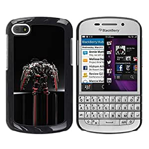 Paccase / SLIM PC / Aliminium Casa Carcasa Funda Case Cover para - Mech Warrior - BlackBerry Q10