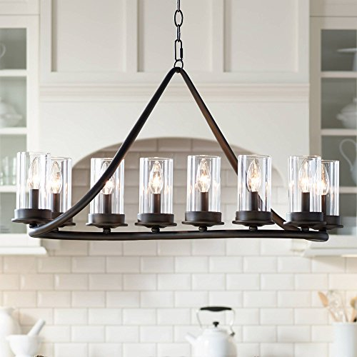 Heritage 44 Wide Bronze 10-Light Island Chandelier – Franklin Iron Works