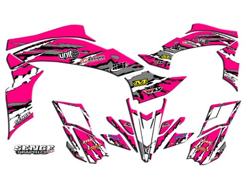 Senge Graphics All Years Yamaha Raptor 90, Shredder Pink Graphics Kit