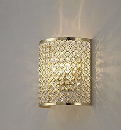 Inspiration World Crystal Wall Sconce Deocr Led Light Gold