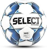 Select Sport Select 2019/2020 Diamond Soccer Ball, White/Blue, Size 5