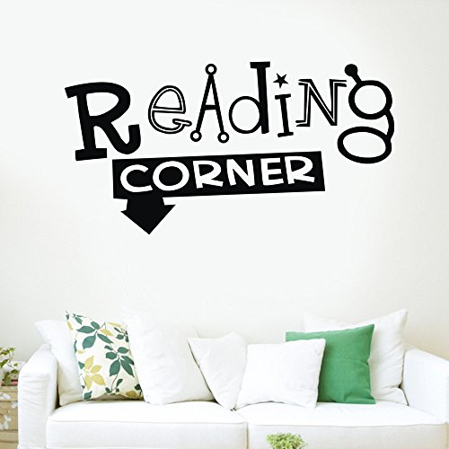 Reading Corner Decals Vinyl Wall Stickers,Elevin(TM) Wall Decals Stickers Removable Waterproof Self Adhesive Paper Mural Wall Art Wallpaper Home Room Decor]()