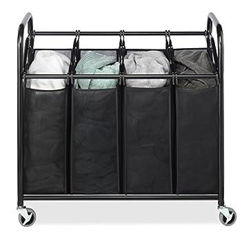 Large Laundry Sorter Mesmerizing Amazon Whitmor 60Section Laundry Sorter CartHeavy Duty