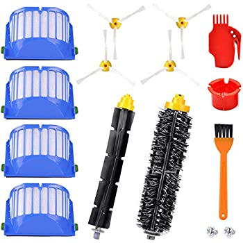 3 Pcs Side Brush 3 Pcs Vacuum Cleaner Filter One Rolling Brush Glue Brush Flat Comb Circular For Robot To Suit The PeopleS Convenience Vacuum Cleaner Parts