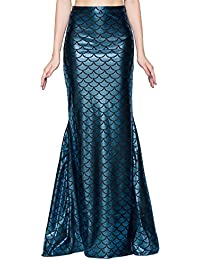 Ladies Sexy Maxi Long Shiny Mermaid Skirts Green and Blue...