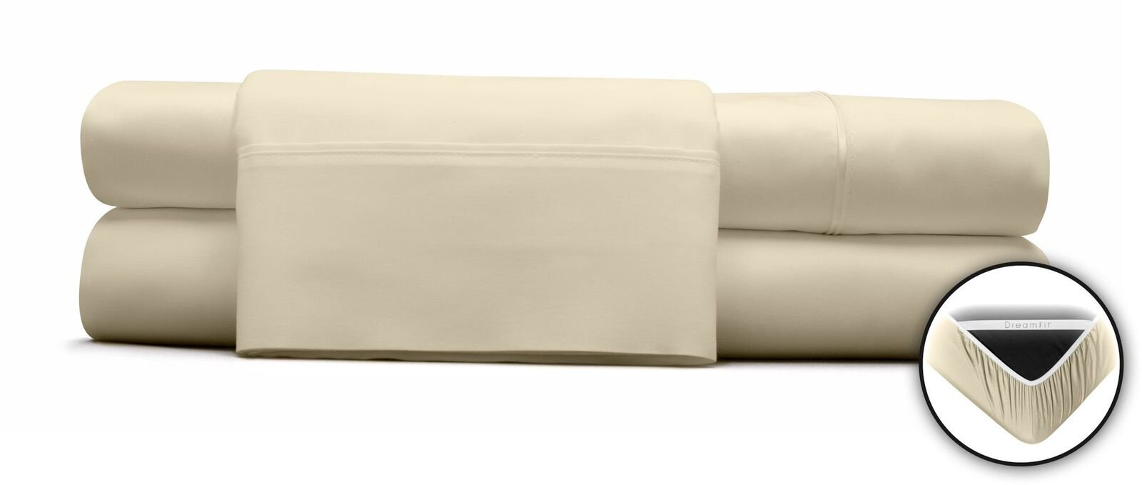 DreamFit BAMBOO DEGREE 5 ECRU SPLIT HEAD CAL KING SHEET SET