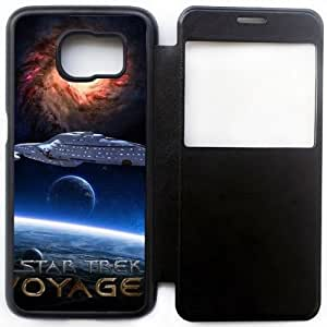 Wunatin Ultra Thin Windows View Flip Leather Case Cover For Samsung Galaxy S6,StarTrek Voyager Samsung Galaxy S6 Cell Phone Case,BA-7754746