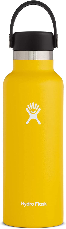 Hydro Flask Water Bottle - Standard Mouth Flex Lid - Multiple Sizes & Colors