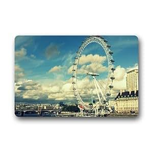 Beautiful Design,London Eye Good Quality Custom Non-Woven Fabric Top,Indoors/Outdoors Doormat 23.6 x 15.7