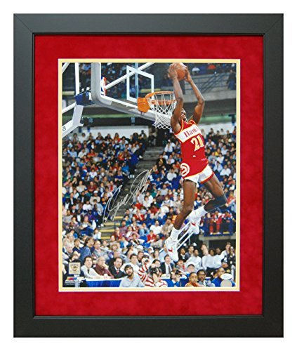 Dominique Wilkins Atlanta Hawks Autographed and Custom Framed 16x20 Photo - JSA