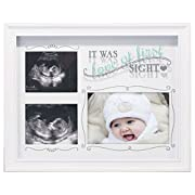 Malden Love At First Sight Decorative Baby Sonogram & Newborn Picture Frame