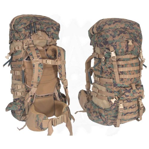 Military Outdoor Clothing Never Issued U.S. G.I. USMC MARPAT Large ILBE Complete Field Pack with Lid and Hip Belt by Military Outdoor Clothing