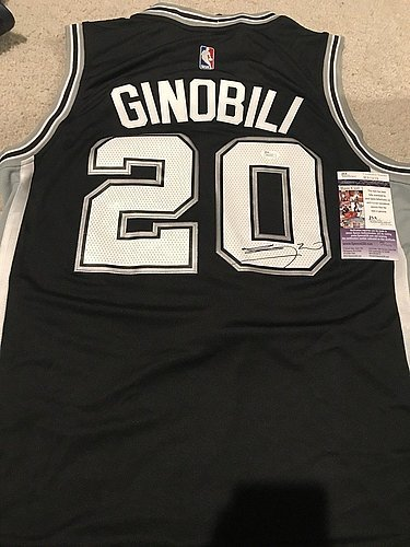 outlet store sale 5a89f f0f54 Manu Ginobili Autographed Signed San Antonio Spurs Jersey ...