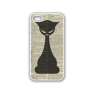 Vintage Gothic Cat White iPhone 5 & 5S Case - Fits iPhone 5 & 5S
