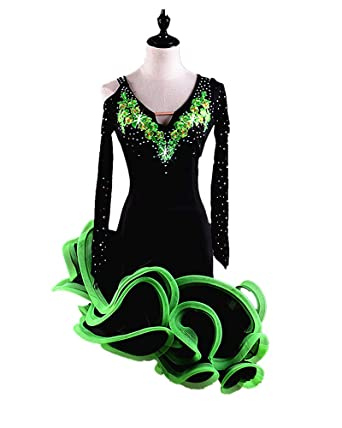 965466fbb SIQIAN Adult/Child Long-Sleeve Embroidered Performance Practice Competi Clothing  Party Costume Four Colors