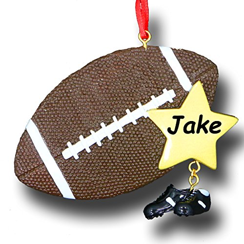 Personalized Sports Ball and Shoes Christmas Ornament (Football)