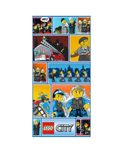 """Lego City Minifigures Beach Towel 28"""" x 58"""""""