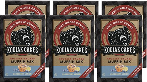 Kodiak Cakes Power Bake, Protein Muffin Mix, Blueberry Lemon, 14 Ounce (Pack of 6) ()