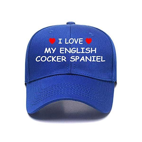 I Love My English Cocker Spaniel Baseball Cap Funny Comfy Customizable Logo Personalized Text 1