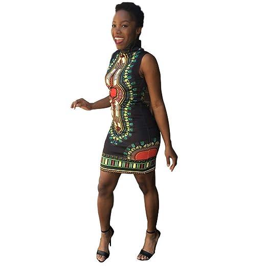 96318dd3b5 Amazon.com: Women's Dashiki African Floral Formal Prom Dresses ...