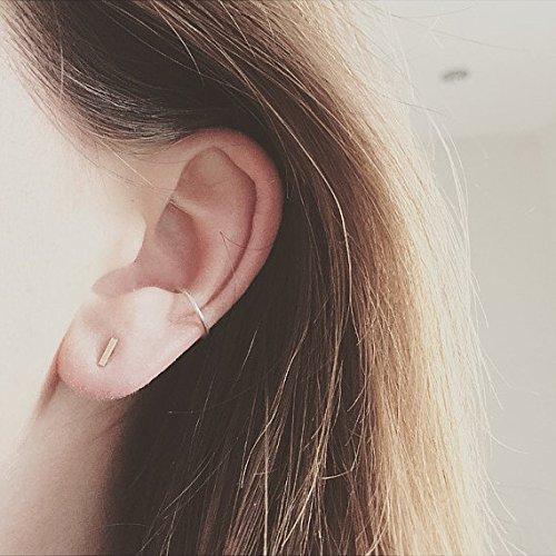 9k Rose Earrings - 3