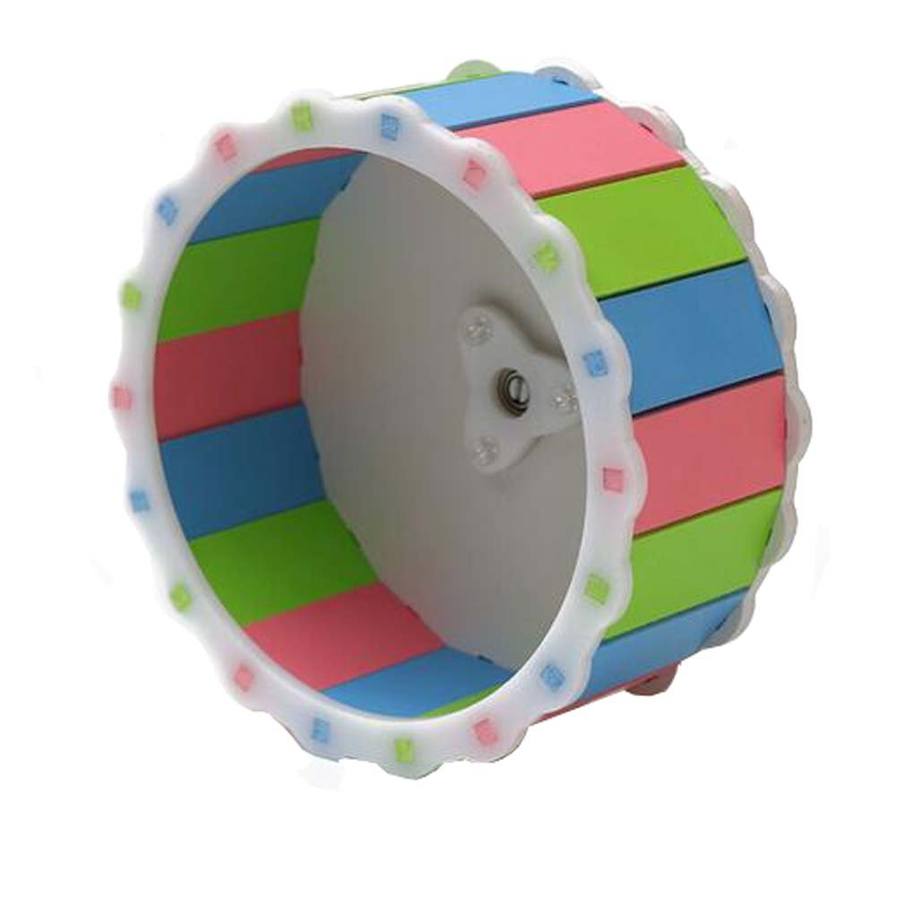 ANONE Hamster Exercise Wheel 6'' Running Toy Cage Accessories for Dwarf Hamster Mouse Small Animals (Multi-colored)