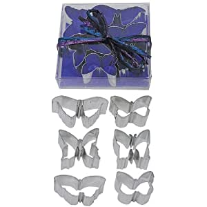 "Miniature 1.75"" Butterfly Tin Cookie Cutter 6 Pc Set L1992"