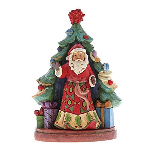 (Enesco Jim Shore Heartwood Creek Santa with Tree Set)