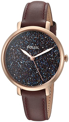 Fossil Women's 'Jacqueline' Quartz Stainless Steel and Leather Casual Watch, Color:Red (Model: ES4326) by Fossil