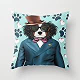 Throw Pillow Covers 18 X 18 Inches / 45 By 45 Cm(2 Sides) Nice Choice For Club,coffee House,teens Girls,son,bedroom,wife Dogs