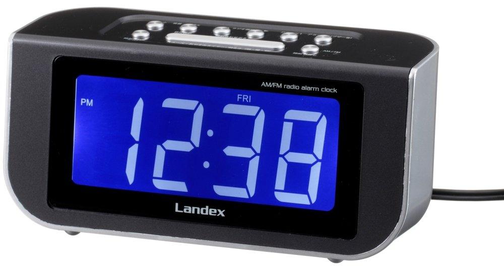 LANDEX デジタル目覚まし時計 スクラッチneo AMFM ラジオ付き シルバー YT5231SV B00Y7MLG78