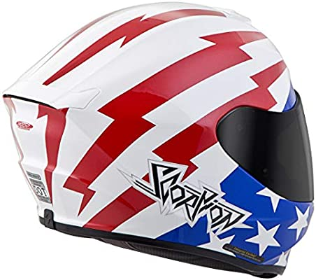 Scorpion Unisex-Adult Full-face-Helmet-Style Tracker White//Red//Blue XXX-Large 75-11313X