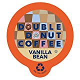 kcups coffee bean - Double Donut Vanilla Bean Flavored Coffee, in Recyclable Single Serve Cups for Keurig K-Cup Brewers, 24 Count