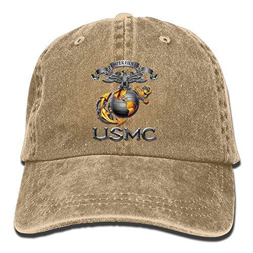 USMC Semper Fidelis Patriotic Youth Baseball Cap Vintage Casquette Trucker Hat