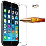 Fuleadture  iPhone 液晶保護フィルム  強化ガラス 指紋防止  高感度 耐衝撃 飛散防止