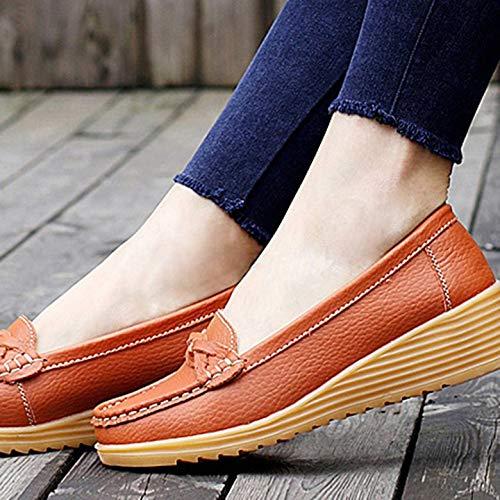 La Sin Calzado Con Cordones Antideslizante Madre Suela Gruesa Planos Flecos Kurphy Ultraligeros Para Zapatos Mujer Transpirable xwC0q8U60
