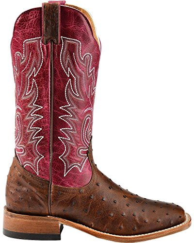 American Boots - cowboy exotic (ostrich) BO-3520-65-C (normal walking) - Women - Magenta / Brown visit for sale visit cheap online R3qhn