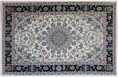 Masada Rugs, Traditional Floral Mat Area Rug, Non Slip Backing, Machine Washable, 2 Feet X 3 Feet