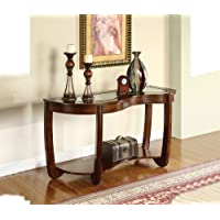 Glass top Hallway Accent Sofa / Console Table