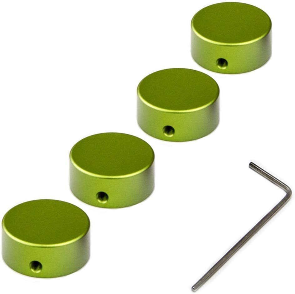 SOLUTEK /Φ23mm Guitar Pedal Footswitch Topper with rubber-inserts fit firmly Increase comfort and accuracy 4pcs Green