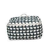 Huhushop Cotton Linen Cartoon Style Desktop Storage Bag Basket Quilt Cupboard Organizer Bags(#1)