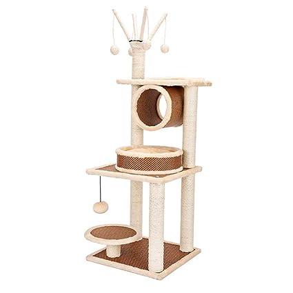 QIONGQIONG Árbol para Gatos,Escalador para Gatos Casa De Gato,Multi-Nivel Cat