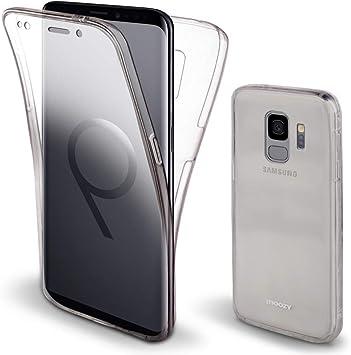 Moozy Funda 360 Grados para Samsung S9 Transparente Silicona ...