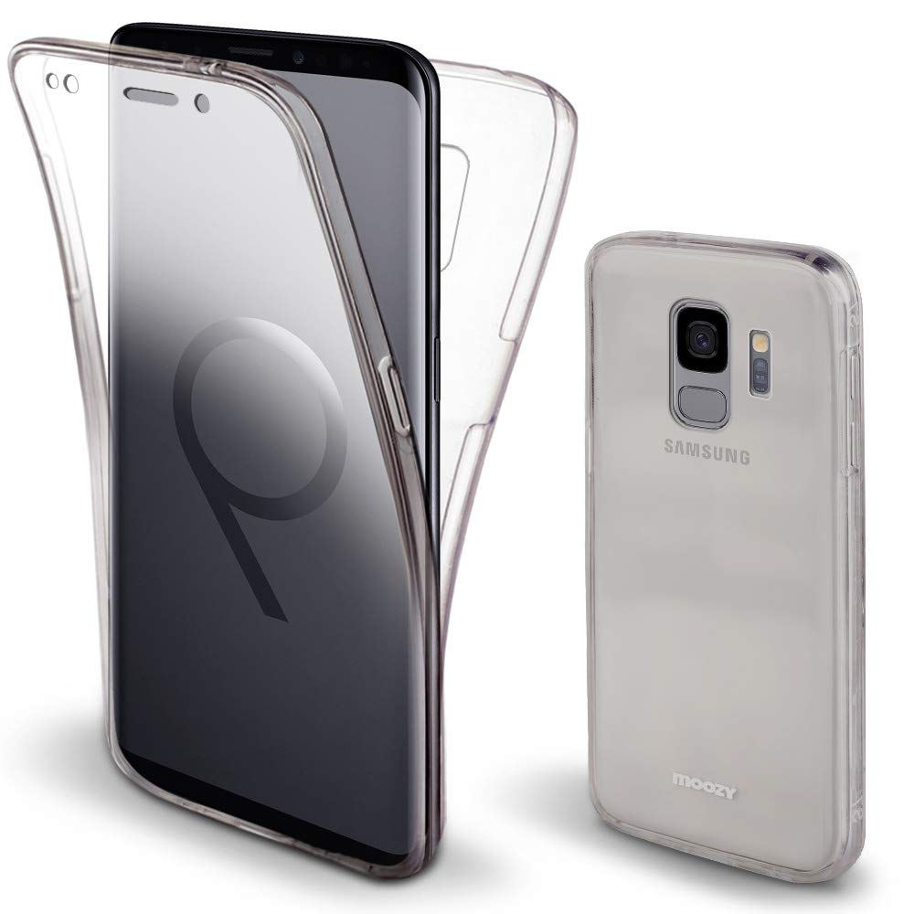Moozy 360 Degree Case for Samsung S9 - Full Body Front and Back Slim Clear Transparent TPU Silicone Gel Cover for Samsung Galaxy S9 by Moozy